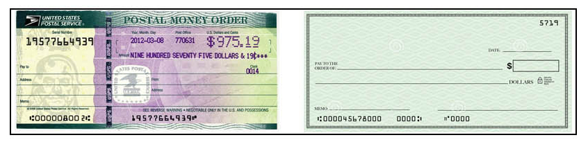Money Order/Check